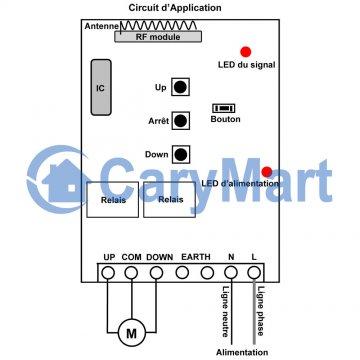 compatible avec tous les moteurs tubulaires 220/V Unit/é de commande universelle pour t/él/écommande de stores et de rideaux