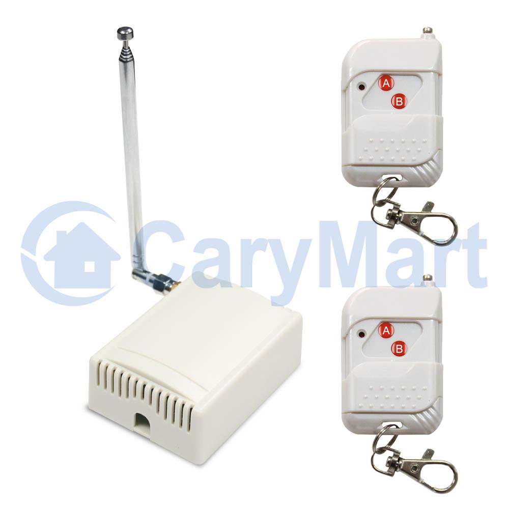 kit interrupteur sans fil 2 t l commandes rf 1 canal 3 fonctions 2 touches 315 433mhz 6v 9v 12v 24v. Black Bedroom Furniture Sets. Home Design Ideas