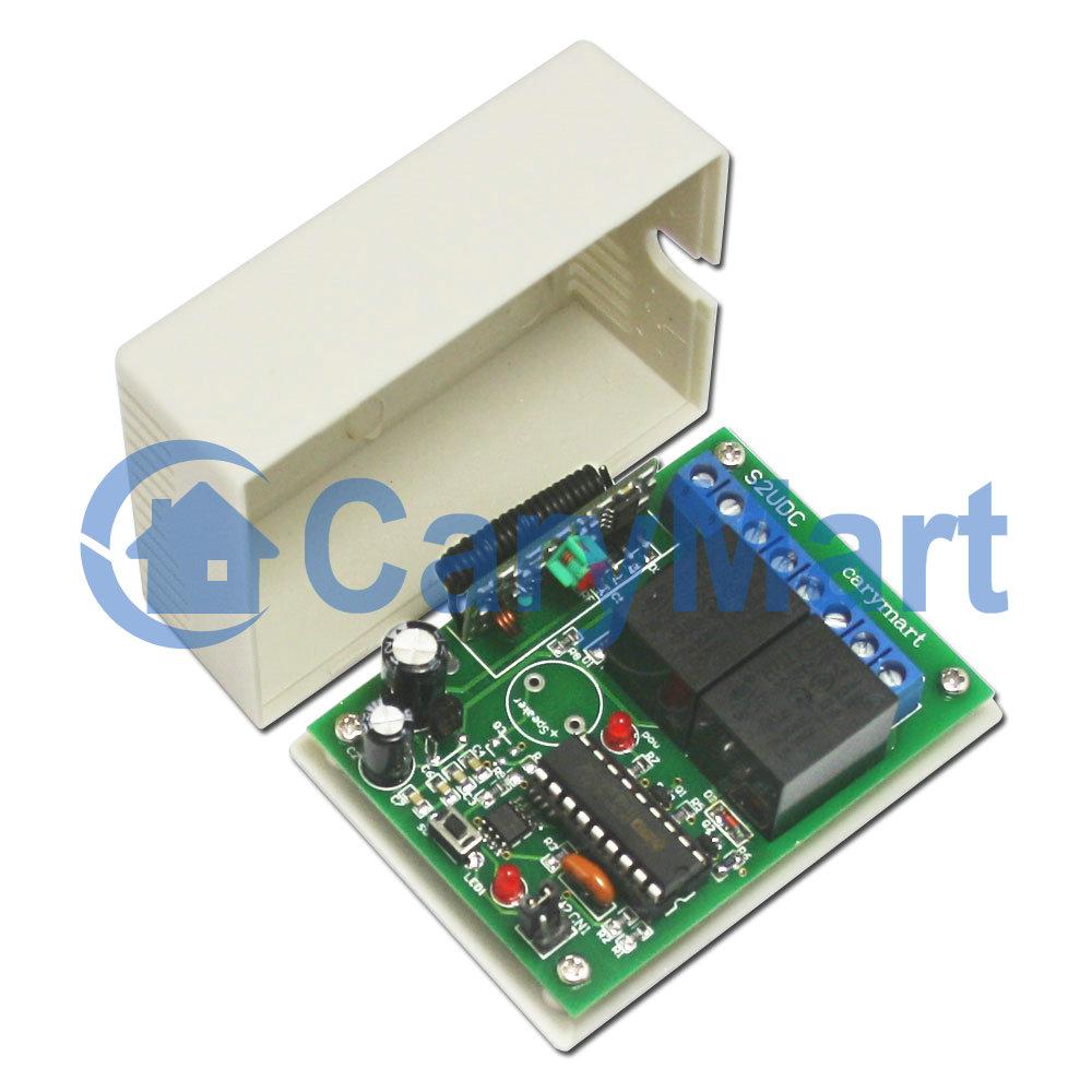 Kit metteur r cepteur 2 canaux avec sortie de contact normalement ouverte - Emetteur recepteur porte de garage ...