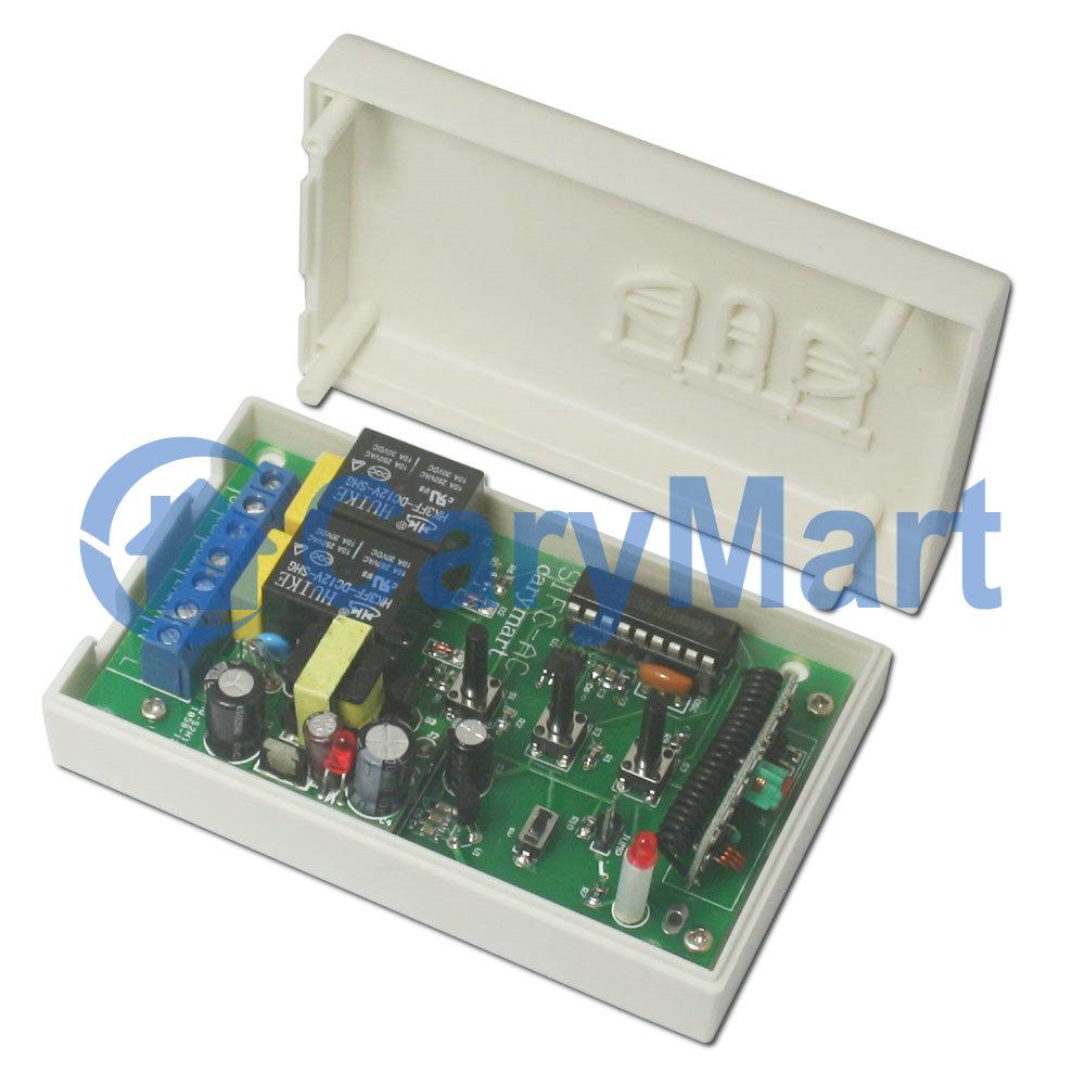 R cepteur sans fil universel pour commande moteur radio porte de garage 110v 220v mode momentan - Emetteur recepteur porte de garage ...