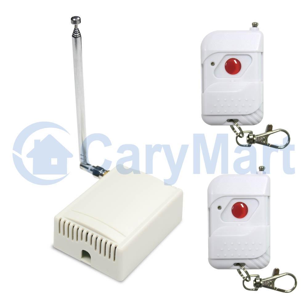 Kit metteur r cepteur universel sans fil pour porte de garage mode momentan - Emetteur recepteur porte de garage ...